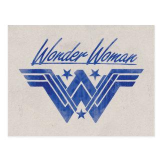 Wonder Woman Stacked Stars Symbol Postcard
