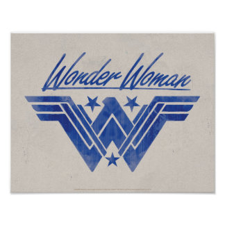 Wonder Woman Stacked Stars Symbol Poster