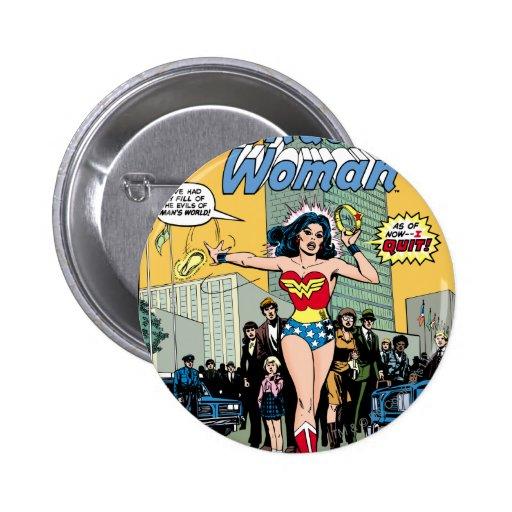 Wonder Woman Starring Pat Carbine Pinback Buttons