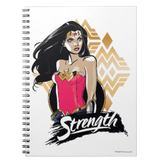 Wonder Woman Strength Spiral Notebook