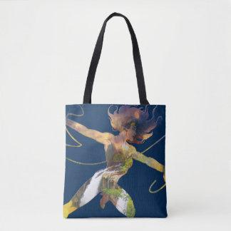 Wonder Woman Sunset Waterfall Silhouette Tote Bag