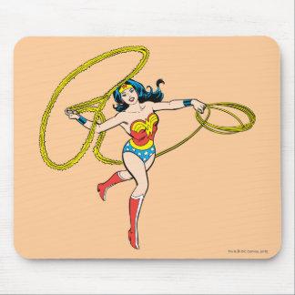 Wonder Woman Swinging Lasso Mouse Pad