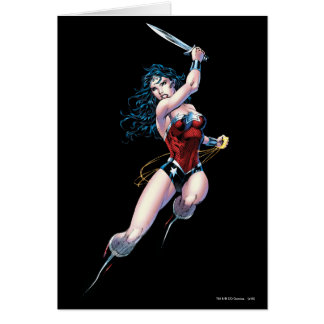 Wonder Woman Swinging Sword Card