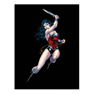 Wonder Woman Swinging Sword Postcard