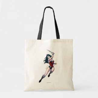 Wonder Woman Swinging Sword Tote Bag