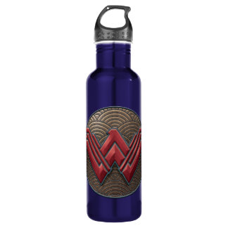 Wonder Woman Symbol Over Concentric Circles 710 Ml Water Bottle