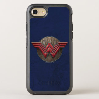 Wonder Woman Symbol Over Concentric Circles OtterBox Symmetry iPhone 8/7 Case