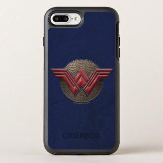 Wonder Woman Symbol Over Concentric Circles OtterBox Symmetry iPhone 8 Plus/7 Plus Case