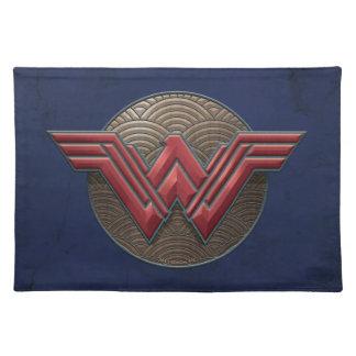 Wonder Woman Symbol Over Concentric Circles Placemat
