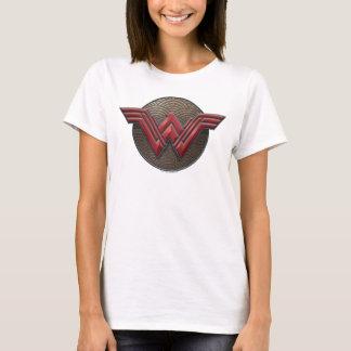 Wonder Woman Symbol Over Concentric Circles T-Shirt