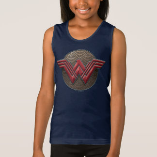 Wonder Woman Symbol Over Concentric Circles Tank Top