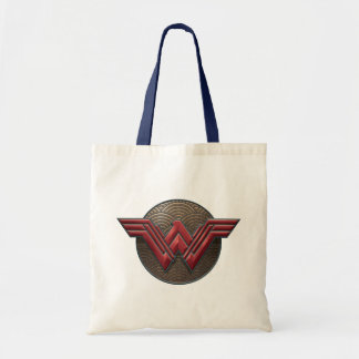 Wonder Woman Symbol Over Concentric Circles Tote Bag