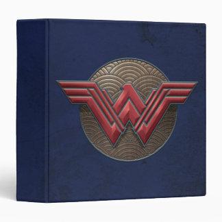 Wonder Woman Symbol Over Concentric Circles Vinyl Binder