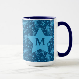 Wonder Woman Symbol Pattern | Monogram Mug