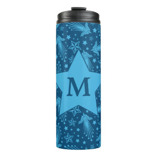 Wonder Woman Symbol Pattern | Monogram Thermal Tumbler