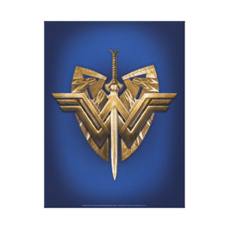 Wonder Woman Symbol With Sword of Justice Canvas Print