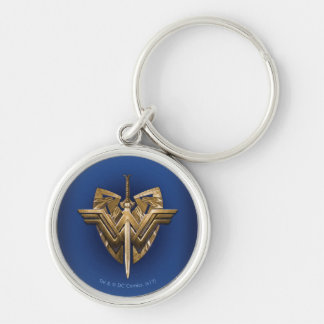 Wonder Woman Symbol With Sword of Justice Keychain