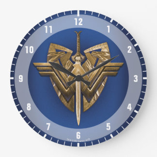 Wonder Woman Symbol With Sword of Justice Large Clock