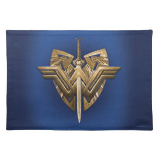 Wonder Woman Symbol With Sword of Justice Placemat