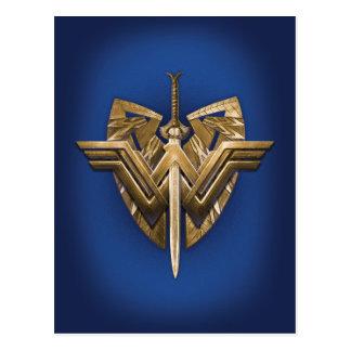 Wonder Woman Symbol With Sword of Justice Postcard