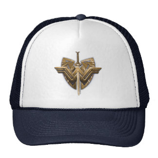 Wonder Woman Symbol With Sword of Justice Trucker Hat