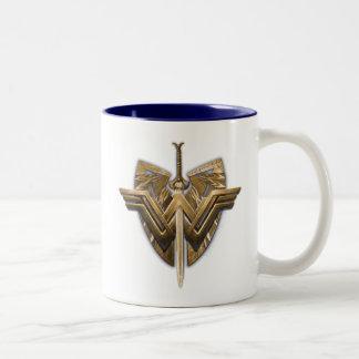 Wonder Woman Symbol With Sword of Justice Two-Tone Coffee Mug