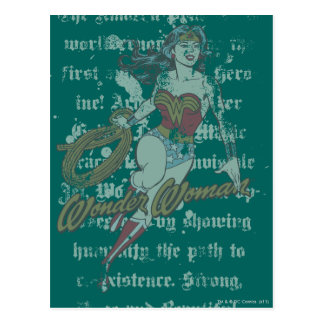 Wonder Woman Text Background Postcard