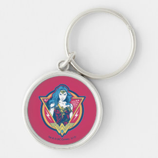 Wonder Woman Tri-Color Graphic Keychain