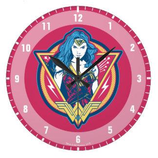 Wonder Woman Tri-Color Graphic Large Clock