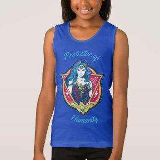 Wonder Woman Tri-Color Graphic Tank Top