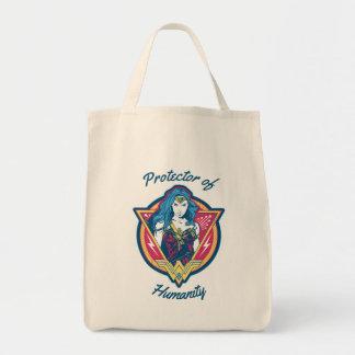 Wonder Woman Tri-Color Graphic Template Tote Bag