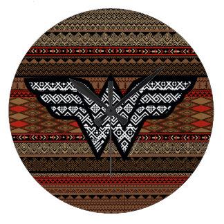 Wonder Woman Tribal Pattern Clock