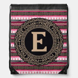 Wonder Woman Tribal Pattern Drawstring Bag