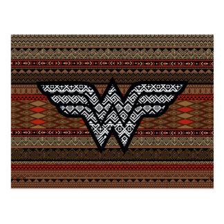 Wonder Woman Tribal Pattern Postcard
