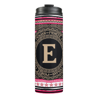 Wonder Woman Tribal Pattern Thermal Tumbler