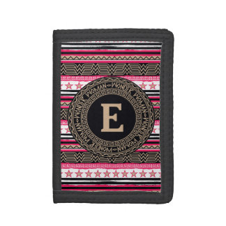 Wonder Woman Tribal Pattern Trifold Wallet