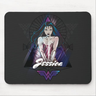 Wonder Woman Tribal Triangle Mouse Pad