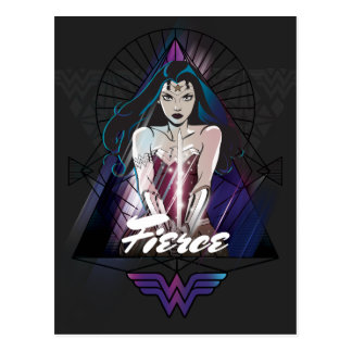 Wonder Woman Tribal Triangle Postcard