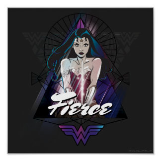 Wonder Woman Tribal Triangle Poster