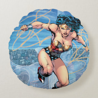 Wonder Woman Trinity Comic Cover #16 Round Pillow