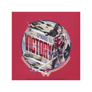 Wonder Woman Upward To Victory Canvas Print