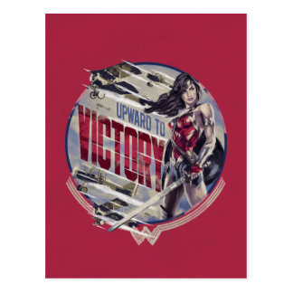 Wonder Woman Upward To Victory Postcard