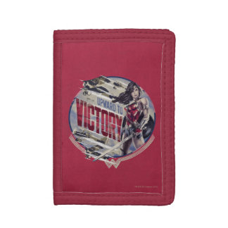 Wonder Woman Upward To Victory Trifold Wallets