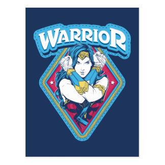 Wonder Woman Warrior Graphic Postcard