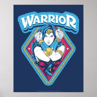 Wonder Woman Warrior Graphic Poster