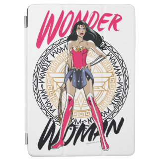 Wonder Woman With Greek Tribal Emblem iPad Air Cover