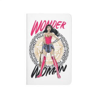 Wonder Woman With Greek Tribal Emblem Journal