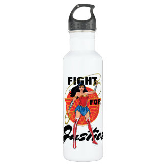 Wonder Woman With Lasso - Fight For Justice 710 Ml Water Bottle