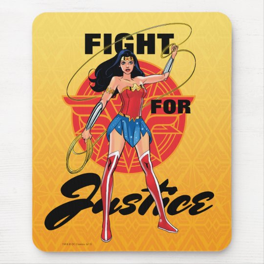 Wonder Woman With Lasso - Fight For Justice Mouse Pad