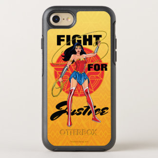 Wonder Woman With Lasso - Fight For Justice OtterBox Symmetry iPhone 8/7 Case
